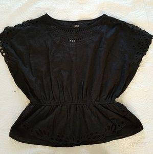 NWT black cutout top