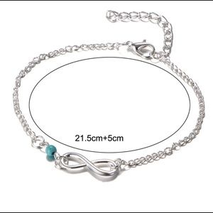 Infinity Silver Tone Anklet