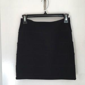 TopShop Black Bandage Bodycon Mini Skirt