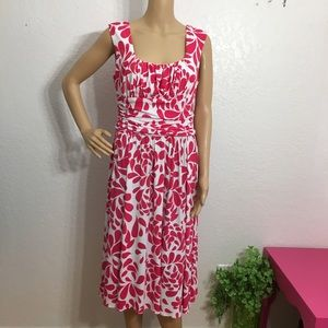 Maggy London Pink & White Dress