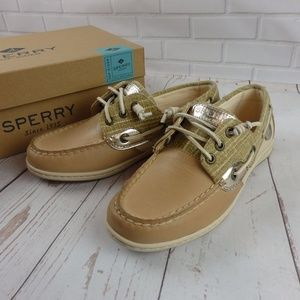 NEW Sperry Top Sider Songfish Sparkle boat shoe 6W