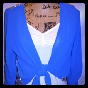 """💕UMGEE Royal Blue Tie Front Cardigan"""""""