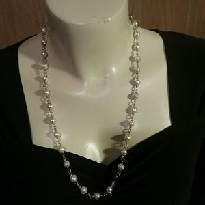 Faux Pearl Necklace