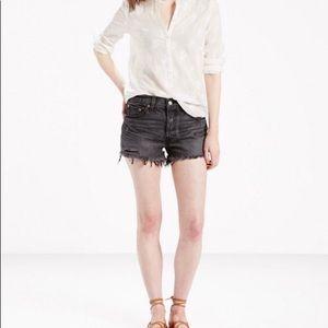 501 Black Levi's shorts