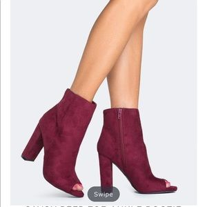 [LIKE NEW] Zooshoo: Savoy Peep Toe Ankle Bootie
