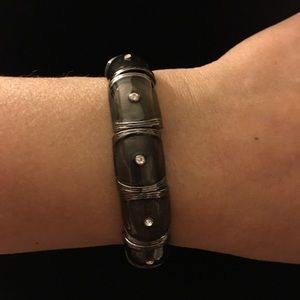 Black Ceramic Bracelet w/ Bling!