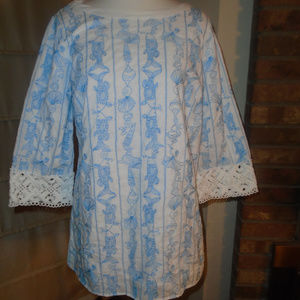 LILLY PULITZER JUBILEE BLOUSE ~ XS ~ RARE STYLE!!!