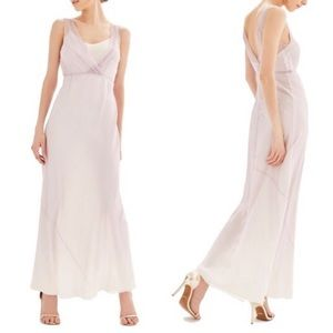 Topshop Bride Column Gown In Lilac Multi