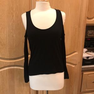 Black cut out top comfortable stretchy cotton