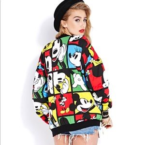 Forever 21 Mickey Mouse Bomber Jacket