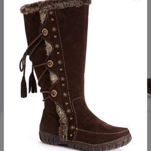 Faux Fur Brown Nordic Boots Size 8.5
