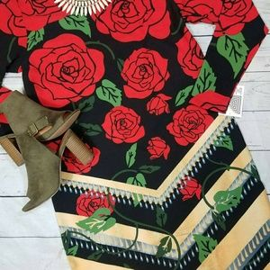 Lularoe BNWT 2XL Elegant Rose Debbie*Rare*