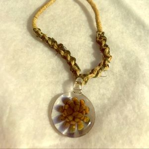 Hemp and Glass Necklace