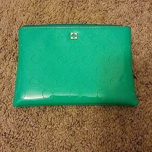 Kate Spade small green clutch