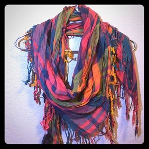 Plaid Multicolor Scarf