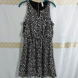 Sheer animal print dress I-281