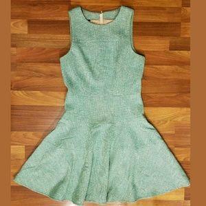 4C anthropologie fit+flare tweed sleeveless dress