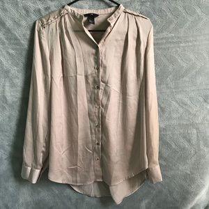 H&M Button Down Blouse Size 2