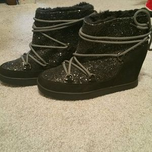 JUICY COUTURE WEDGE BOOTIES