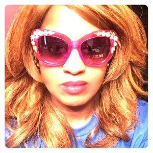 Bright Pink Ornate Sunglasses