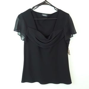NWT DRESS BARN COLLECTION DROOP NECK TOP