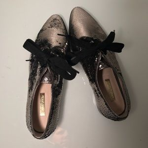 Louise et Cie Gold Sequined Mermaid Style Loafers