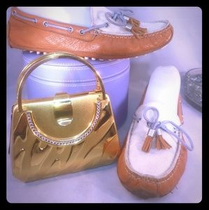 Cole Haan 360 Lace Tassel Women Size 6.5B Loafers