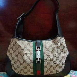 Gucci mongram Jackie o bag