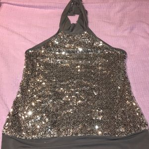 Sequined Halter Tunic