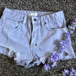Free People Ash Distressed Denim Shorts
