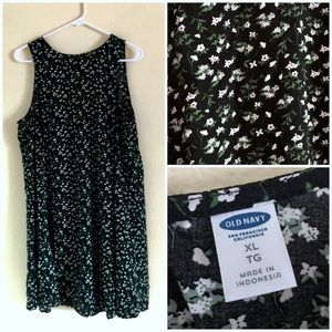Old navy floral swing dress XL