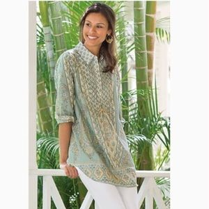 Soft Surroundings Tabitha Tunic Paisley Floral