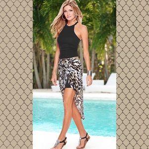 Venus Animal Print Hi Low Skirt XL