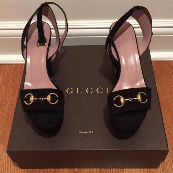 4bbfd527b6f Gucci Shoes - Gucci lilianne horsebit wedge
