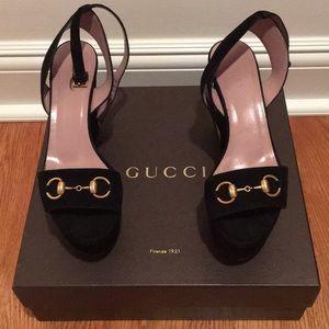 Gucci lilianne horsebit wedge