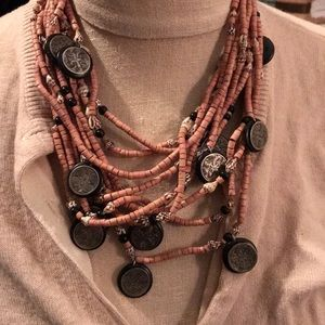 Jewelry - Vintage beaded statement necklace