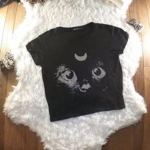 Brandy Melville Luna Cat Crop Top