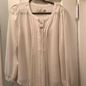 Loft cream blouse