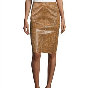Lafayette 148  Modern Slim Leather Skirt ☀️