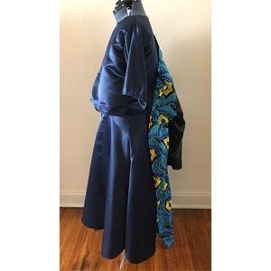 2 piece satin crop top skirt set