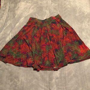 🆕 LuLaRoe Madison Palm Leaves Skirt