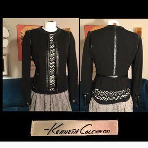 Kenneth Cole Black w/Leather trim