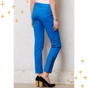 Anthro Cartonnier blue 'Charlie Ankle' pants 2