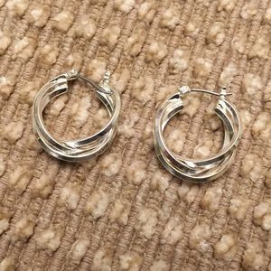 Silver color hoop earrings 👀 bundle 3 for $10