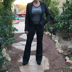 Bebe sheen Gunmetal gray dress Jacket