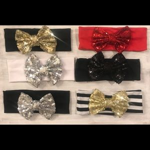 Other - Holiday edition sequin now headbands for baby