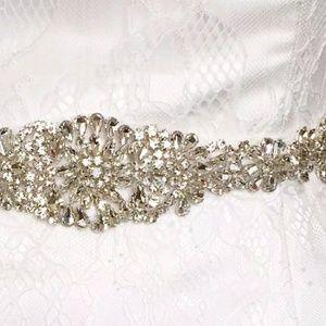 Accessories - Vintage Crystal Rhinestone Sash Beaded Belts