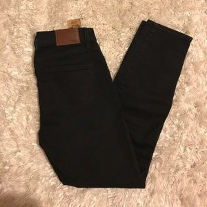 Madewell black skinny side zip jeans