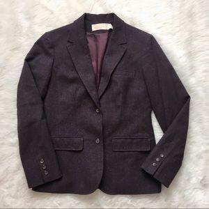 Pendleton 100% Wool Blazer Size 8 Vintage Purple