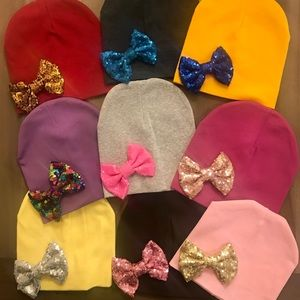 Other - Sequin bow beanie for baby-3 years old